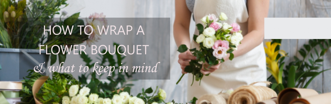 How to wrap flower bouquets