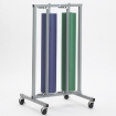 Double roll vertical paper rack