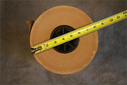 Diameter of the roll
